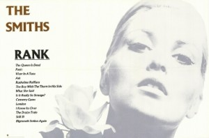 US Rank Live LP Poster - The Smiths, SIRE,