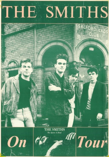 The Smiths with Salford Lads Club Background
