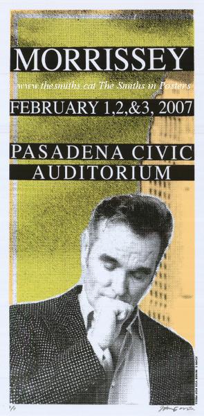 Morrissey Original Tour Poster Pasadena