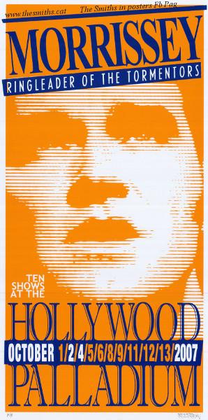 Morrissey Original Tour Poster LA