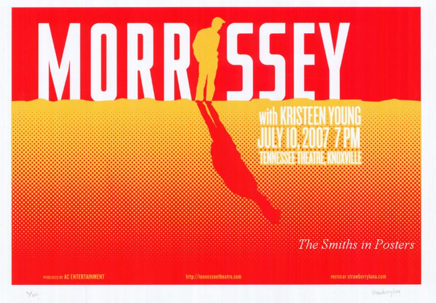 Morrissey Original Tour Poster Tennesse
